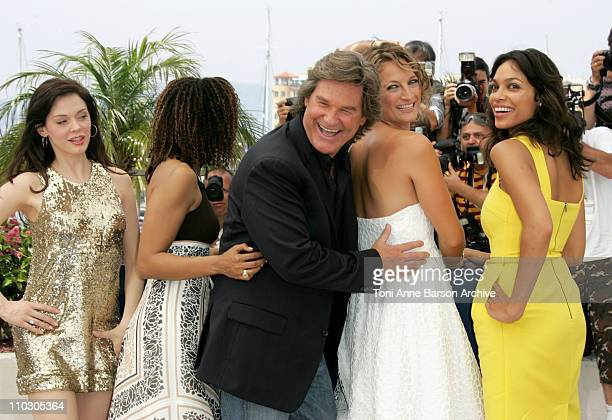 Rose McGowan Tracie Thoms Kurt Russell Zoe Bell and Rosario Dawson