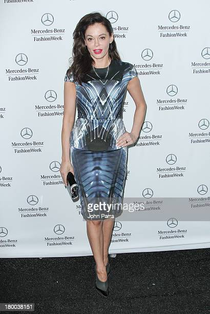 Rose McGowen seen around Lincoln Center during Spring 2014 MercedesBenz Fashion Week at Lincoln Center for the Performing Arts on September 7 2013 in...