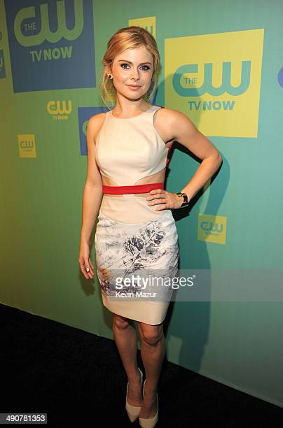 Rose McIver attends The CW Network's 2014 Upfront at The London Hotel on May 15 2014 in New York City