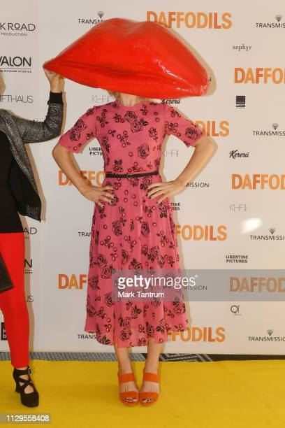 Rose McIver attends the DAFFODILS World Premiere at The Embassy Theatre on February 14 2019 in Wellington New Zealand