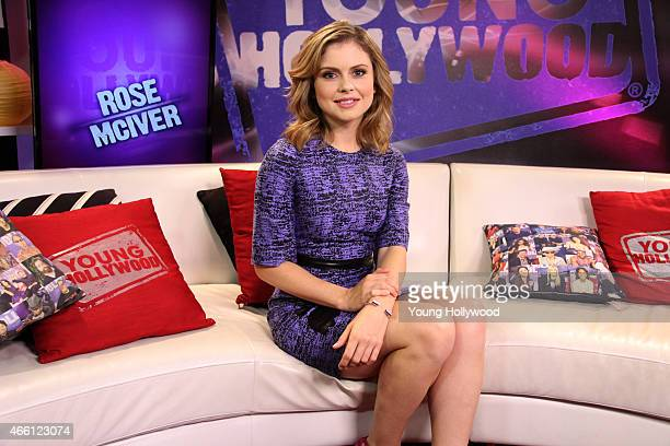 Rose McIver visits the Young Hollywood Studio on March 10 2015 in Los Angeles California