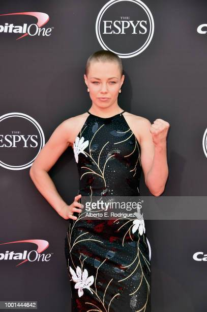 Rose Namajunas attends The 2018 ESPYS at Microsoft Theater on July 18 2018 in Los Angeles California