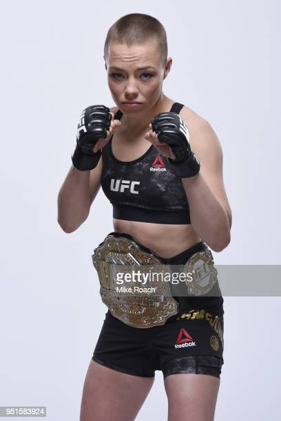 Rose Namajunas poses for a portrait during a UFC photo session on April 4 2018 in Brooklyn New York