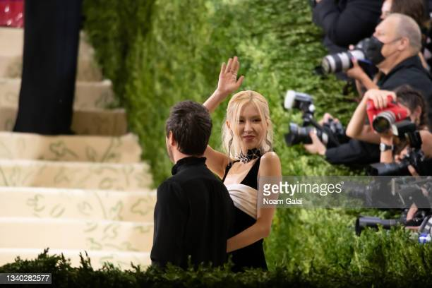 Rose of Black Pink attends the 2021 Met Gala celebrating 'In America: A Lexicon of Fashion' at The Metropolitan Museum of Art on September 13, 2021...