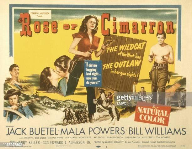 Rose Of Cimarron poster US poster Mala Powers Jack Buetel 1952