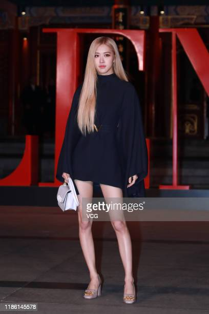 Rose of South Korean girl group BLACKPINK attends Valentino fashion show at Aman Summer Palace on November 7 2019 in Beijing China