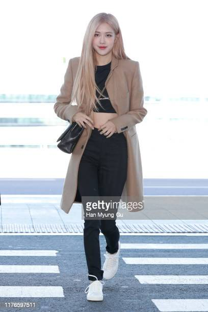 Rose of South Korean girl group BLACKPINK is seen on departure at Incheon International Airport on September 23, 2019 in Incheon, South Korea.