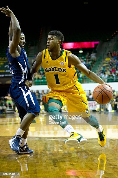 J Rose of the Baylor University Bears drives the ball against the Jackson State University Tigers on November 11 2012 at the Ferrell Center in Waco...