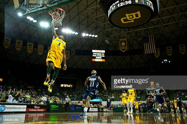 J Rose of the Baylor University Bears dunks the ball against the Jackson State University Tigers on November 11 2012 at the Ferrell Center in Waco...