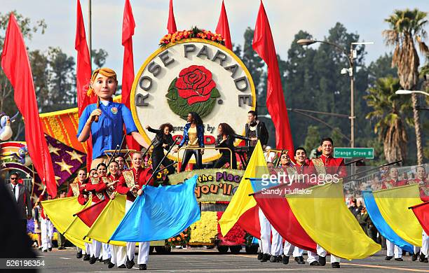 A Rose Parade float cruises down Colorado Drive during the 124th Annual Tournament of Roses on Monday January 1 2013 in Pasedena CA The Parade also...