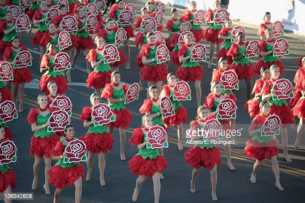 Rose Parade performers participate in the 123rd Annual Rose Parade on January 2, 2012 in Pasadena, California.
