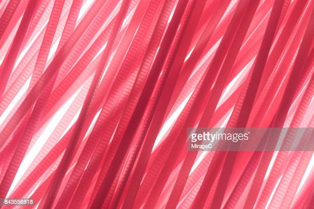 Rose Pink Colored Plastic Stripes