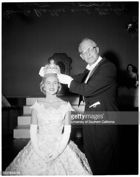 Rose Queen Coronation 29 December 1958 Pamela Prather Stanley K Brown Marilyn Sampson Diana Rasmussen Diane Price Thea Corcoran Carole Mark Kathleen...