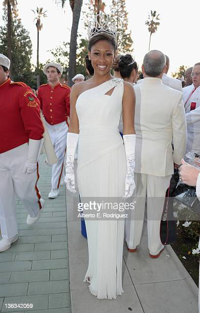 Rose Queen Drew Washington participates in the 123rd Annual Rose Parade on January 2, 2012 in Pasadena, California.