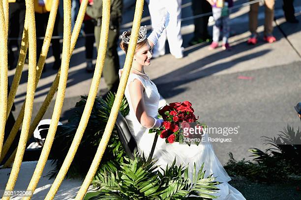 Rose Queen Erika Karen Winter participates in the 127th Tournament of Roses Parade presented by Honda on January 1 2016 in Pasadena California