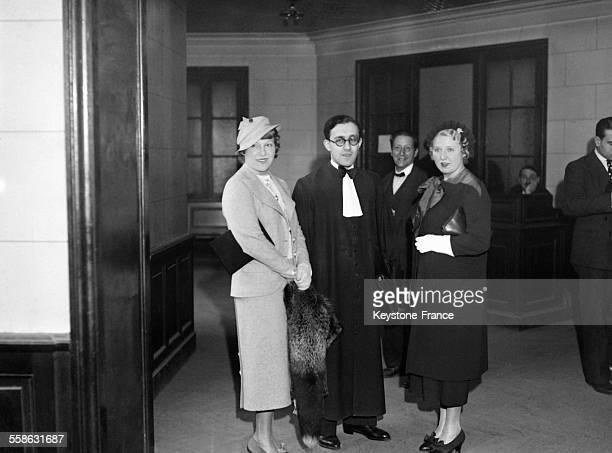 Rose Rein et sa soeur Sara couturieres et amies d'Arlette Stavisky ont ete entendues dans le cadre de l'instruction sur l'affaire Stavisky a Paris...