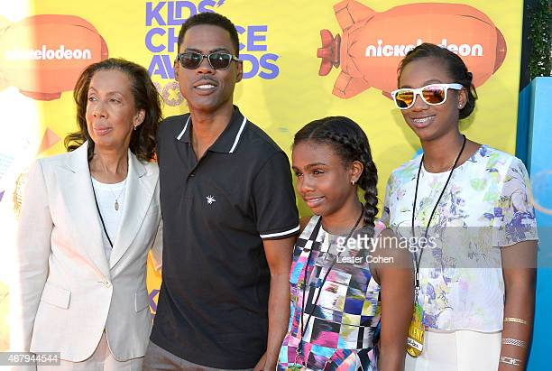 Rose Rock actor Chris Rock Zahra Savannah Rock and Lola Simone Rock attend Nickelodeon's 28th Annual Kids' Choice Awards held at The Forum on March...