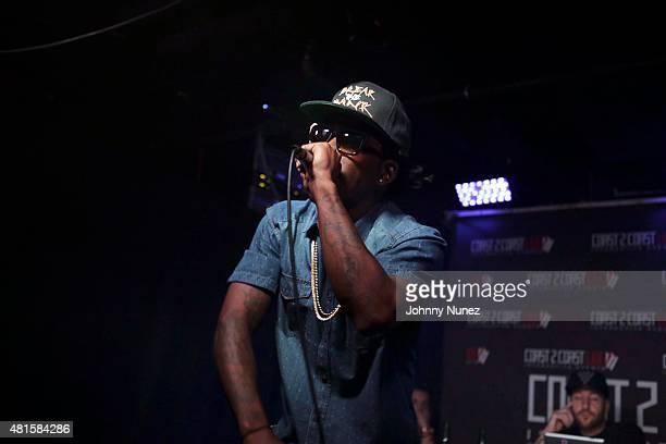 Rose Royce Rique performs during the Coast 2 Coast Live Showcase at Santos Party House on July 21 in New York City