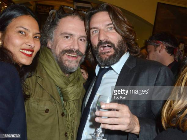 Rose Simon Liberati and Frederic Beigbeder attend the 'Prix De Flore 2012' Literary Award Ceremony Party at the Cafe de Flore on November 8 2012 in...