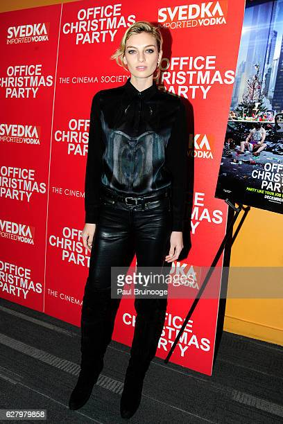 "Rose Smith attends the Paramount Pictures with Paramount Pictures with The Cinema Society & Svedka Host a Screening of ""Office Christmas Party"" at..."