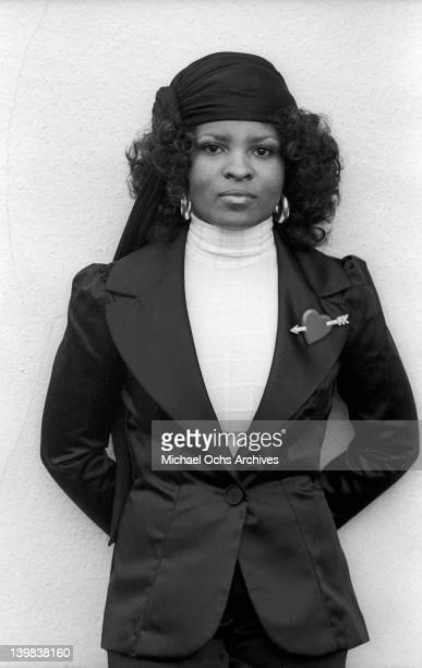 Rose Stone of the psychedelic soul group 'Sly And The Family Stone' poses for a portrait sessionon April 3 1973 in New York New York