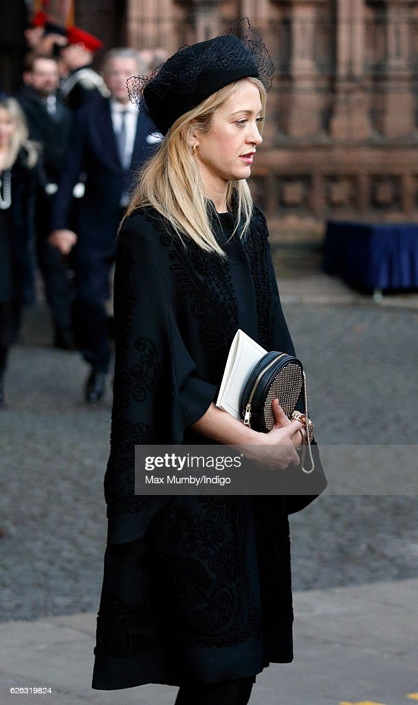 Rose van Cutsem attends a Memorial Service for Gerald Grosvenor, 6th Duke of Westminster at Chester Cathedral on November 28, 2016 in Chester, England. Gerald Cavendish Grosvenor, 6th Duke of Westminster died aged 64 on August 9, 2016 and is survived by his wife, The Duchess of Westminster, Natalia Grosvenor, daughters Lady Tamara van Cutsem, Lady Edwina Snow and Lady Viola Grosvenor and his 25-year-old son and heir Hugh Grosvenor, 7th Duke of Westminster.
