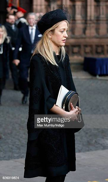 Rose van Cutsem attends a Memorial Service for Gerald Grosvenor 6th Duke of Westminster at Chester Cathedral on November 28 2016 in Chester England...