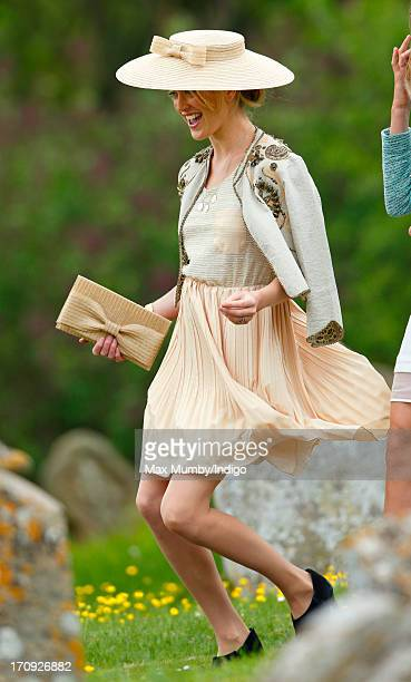 Rose van Cutsem attends the wedding of William van Cutsem and Rosie Ruck Keene at the church of St Mary the Virgin in Ewelme on May 11 2013 near...