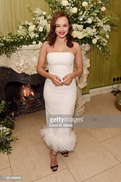 Rose Williams attends the British Vogue and Tiffany Co Fashion and Film Party at Annabel's on February 2 2020 in London England