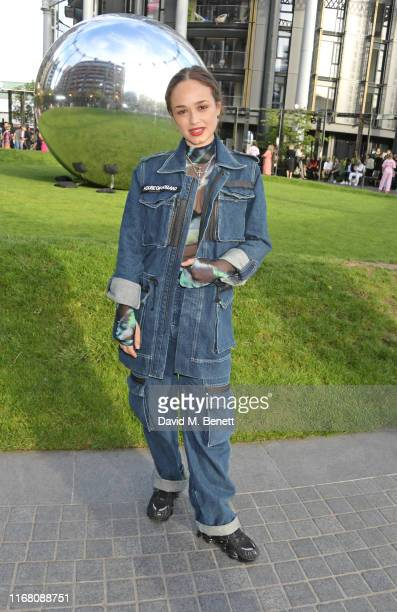 Rose Williams attends the House Of Holland front row during London Fashion Week September 2019 on September 14 2019 in London England