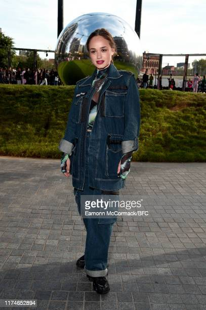 Rose Williams attends the House of Holland show during London Fashion Week September 2019 at Gasholder Park on September 14 2019 in London England
