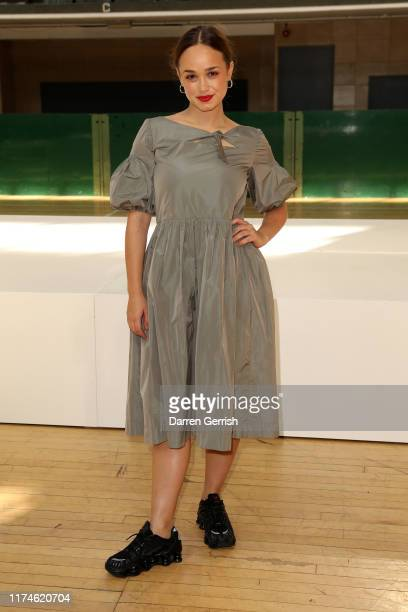 Rose Williams attends the Molly Goddard show during London Fashion Week September 2019 on September 14 2019 in London England