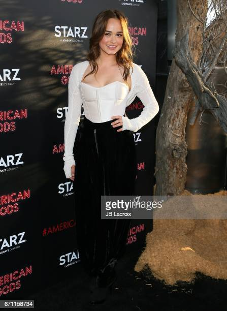 Rose Williams attends the premiere Of Starz's 'American Gods' on April 20 2017 in Hollywood California