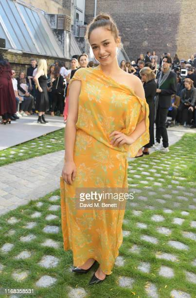 Rose Williams attends the Roland Mouret front row during London Fashion Week September 2019 at The Royal Academy of Arts on September 15 2019 in...