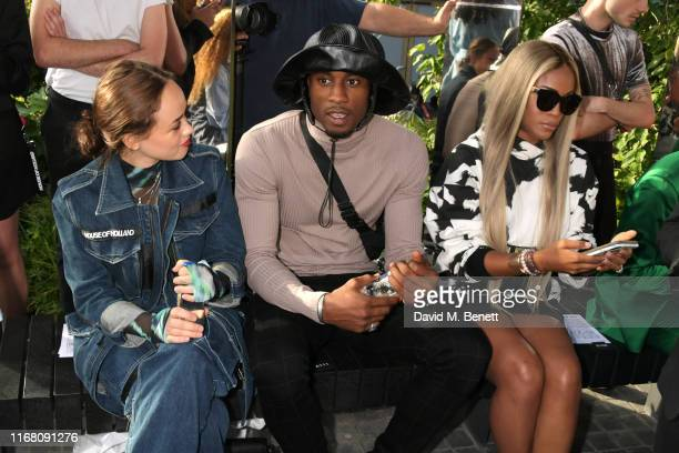 Rose Williams Ovie Soko and Eve attend the House Of Holland front row during London Fashion Week September 2019 on September 14 2019 in London England