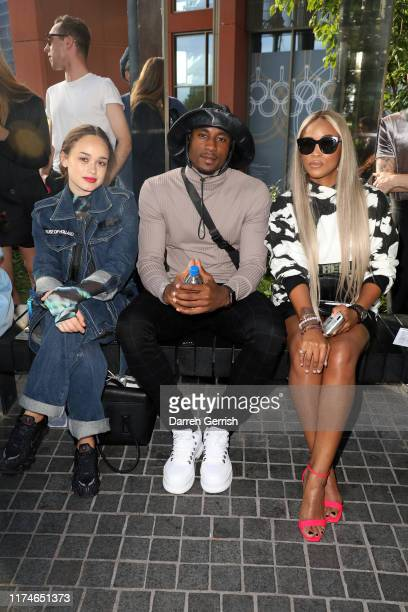 Rose Williams Ovie Soko and Eve attend the House of Holland show during London Fashion Week September 2019 at Gasholder Park on September 14 2019 in...