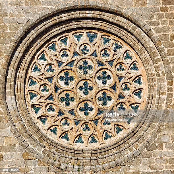 Rose window in Cathedral of Avila.
