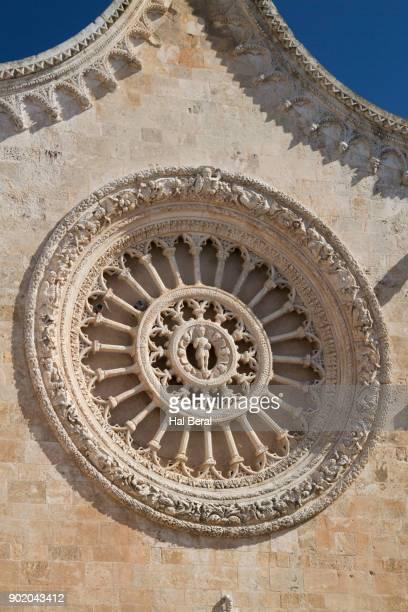 Rose window in Ostuni Cathedral