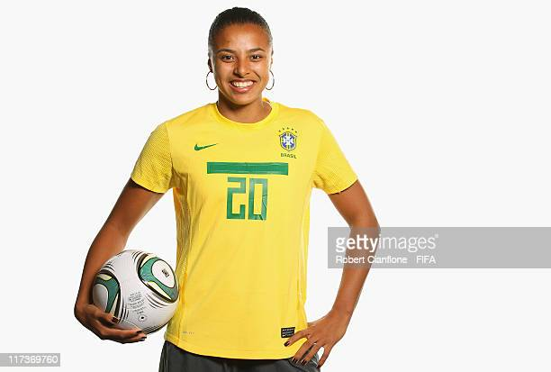 Roseane of Brazil during the FIFA portrait session on June 26 2011 in Dusseldorf Germany