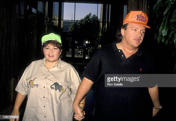 "Roseanne and Tom Arnold during Roseanne and Tom Arnold at a Taping of ""Larry King Live"" at CNN Headquarters in West Hollywood, California, United..."