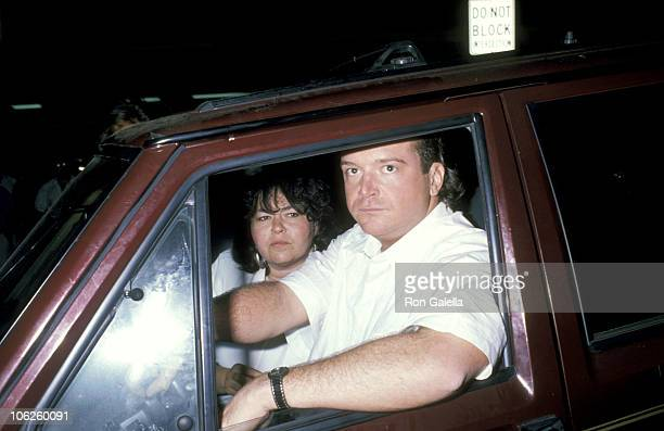 Roseanne and Tom Arnold during Roseanne and Tom Arnold at Spago in West Hollywood - July 14, 1989 at Spago in West Hollywood, California, United...