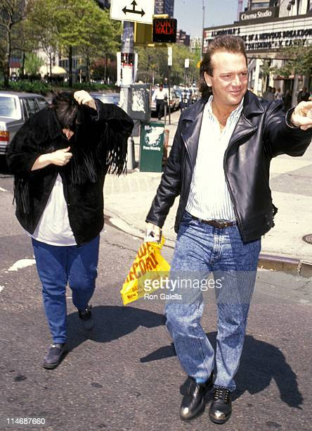 Roseanne and Tom Arnold during Roseanne and Tom Arnold Sighting at Tower Records in New York City April 30 1989 at Tower Records in New York City...