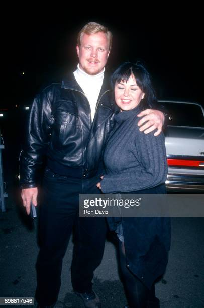 Roseanne Barr and her fiance Ben Thomas pose for a portrait before attending the Rolling Stones Concert/Party circa 1994 in Los Angeles California