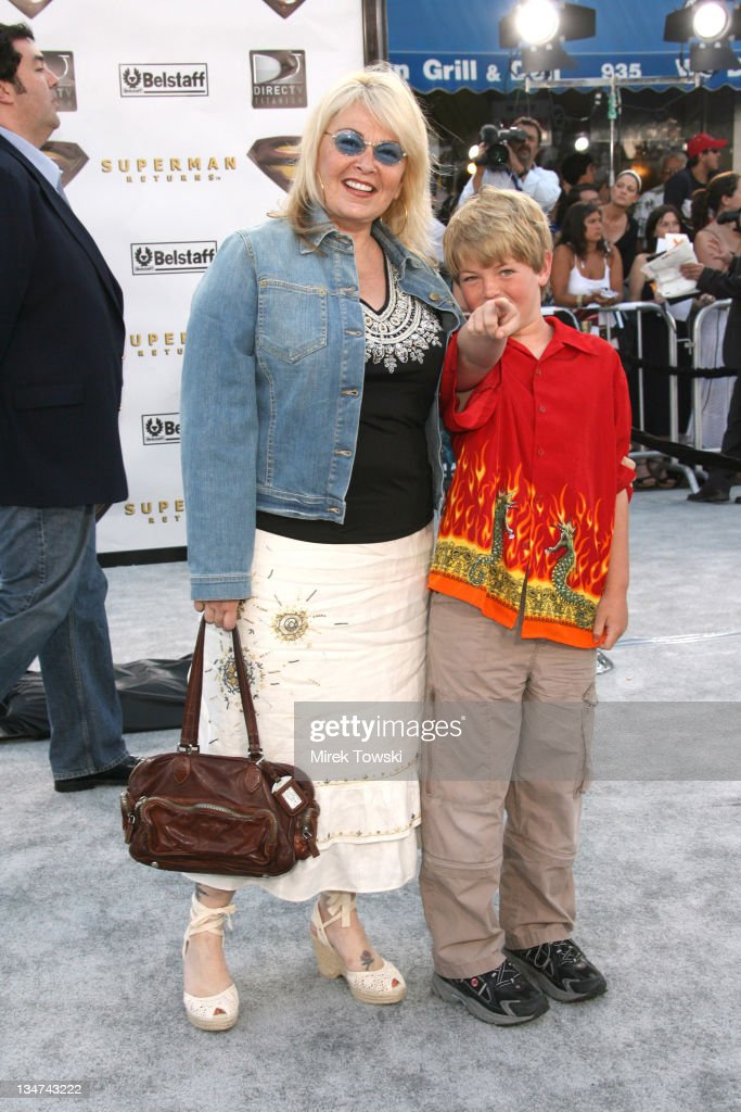 Roseanne Barr and her son Buck during 'Superman Returns' Los Angeles Premiere at Mann Village and Bruin Theaters in Westwood, California, United States.