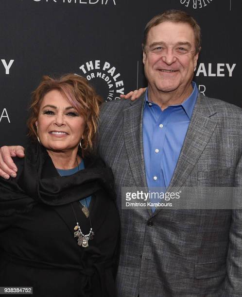 Roseanne Barr and John Goodman attend An Evening With The Cast Of Roseanneat The Paley Center for Media on March 26 2018 in New York City