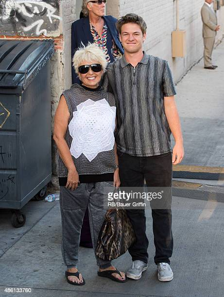 Roseanne Barr and son Buck Thomas are seen on August 31 2015 in Los Angeles California