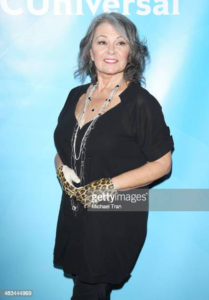 Roseanne Barr arrives at the NBCUniversal's 2014 Summer Press Day held at Langham Hotel on April 8, 2014 in Pasadena, California.