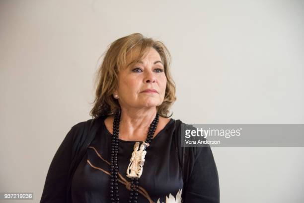 "Roseanne Barr at the ""Roseanne"" Press Conference at the Four Seasons Hotel on March 23, 2018 in Beverly Hills, California."