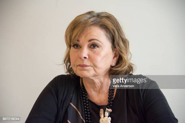 Roseanne Barr at the Roseanne Press Conference at the Four Seasons Hotel on March 23 2018 in Beverly Hills California