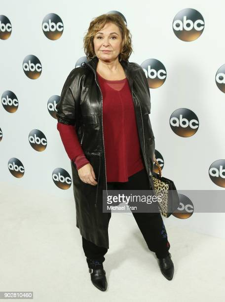 Roseanne Barr attends the Disney ABC Television Group hosts TCA Winter Press Tour 2018 held at The Langham Huntington on January 8 2018 in Pasadena...